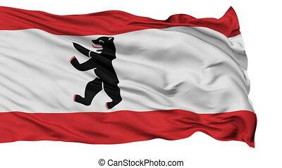 Berlin City Isolated Waving Flag - Berlin Capital City Flag...