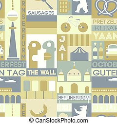 Berlin city seamless pattern design