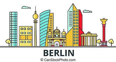 Berlin city skyline.