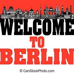 Berlin City Skyline vector