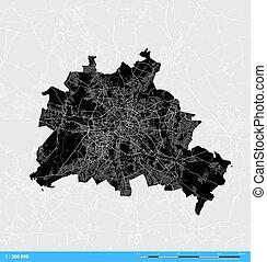 Berlin City Vector Map
