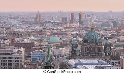 berlin cityscape aerial view