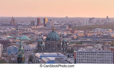berlin cityscape aerial view pano
