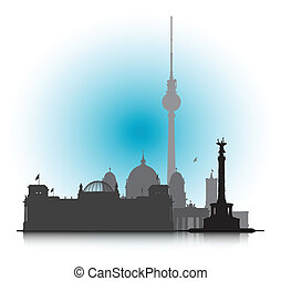 Berlin Cityscape - An abstract vector illustration of the...