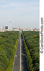 berlin cityscape on a summer day
