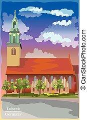 berlin, coloré, église