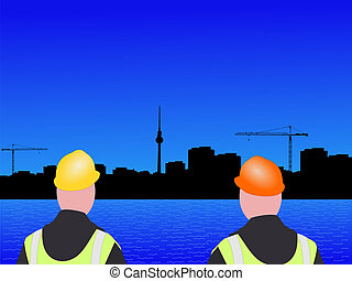 Berlin construction workers