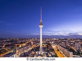 berlin, deutschland, skyline