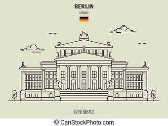 berlin, germany., repère, icône, konzerthaus