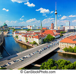 Berlin, Germany view on major landmarks - Berlin, Germany...