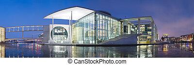 Berlin Government District At Night Panorama - Panoramic...