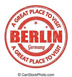 Berlin grunge stamp