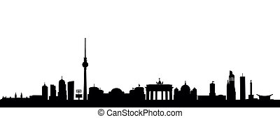 Berlin - detailed vector skyline of Berlin