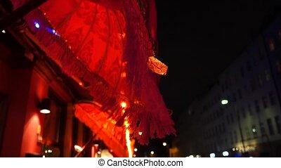 Berlin - Kreuzberg Quarter at Night - Street scene in Berlin...