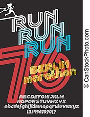 Berlin marathon run poster - Run Berlin marathon sport...