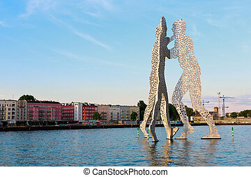 Berlin Molecule Man - BERLIN - MAY 21, 2014: Molecule Man...