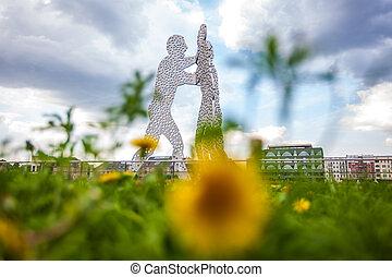 Berlin Molecule Men and dandelion