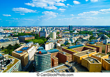 berlin panorama with a lot of houses