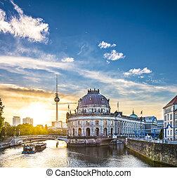 Berlin Scene - Berlin, Germany view of Museum Island and...