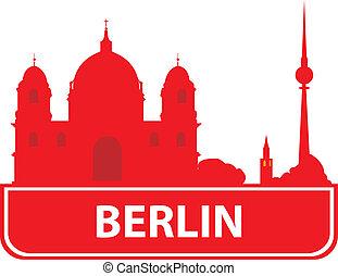 skyline stadt berlin silhouette deutschland stadt vektor clipart suchen sie. Black Bedroom Furniture Sets. Home Design Ideas