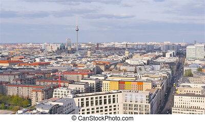 berlin skyline seen from high pov