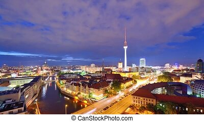 Berlin Skyline - Skyline of Berlin, Germany