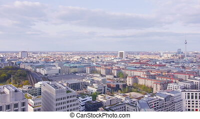 berlin skyline wide angle panorama