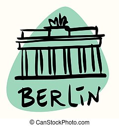 Berlin the capital of Germany. A stylized image of the city...