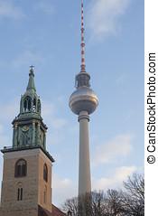 Berlin TV Tower - DECEMBER, 2014 - BERLIN, GERMANY: View on...