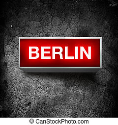 Berlin vintage light display