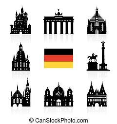 berlin, voyage, allemagne, landmark.