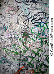 Berlin Wall closeup on Potsdamer Platz in Berlin
