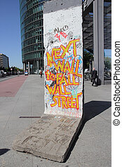 Berlin Wall - BERLIN - MAY 15: Part of the Berlin Wall with...