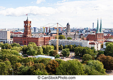 Berlin with Nikolaikirche and Rotes Rathaus - travel to...