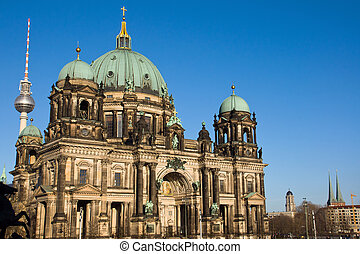 Berliner Dom and the television tower