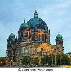 (berliner, kathedrale, berlin, dom)