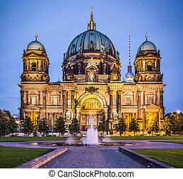 berliner kathedrale, in, berlin, germany., der, church's,...