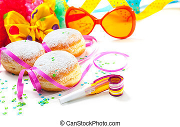 Berliner Krapfen - Krapfen or donuts with jam and icing ...