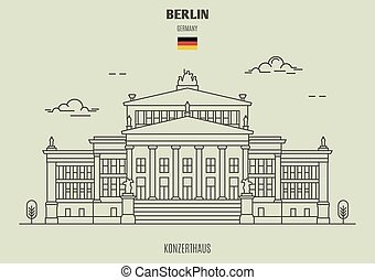 berlino, germany., punto di riferimento, icona, konzerthaus