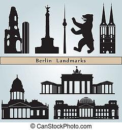 berlino, limiti, e, monumenti