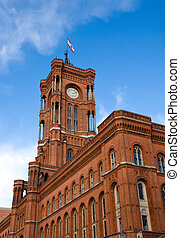 Berlins townhall - Rotes Rathaus - Rotes Rathaus, the...