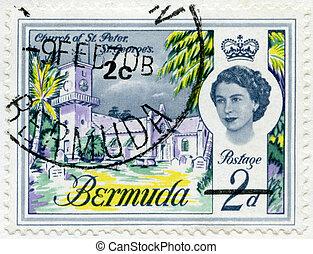 BERMUDA - 1962: shows Church of St. Peter