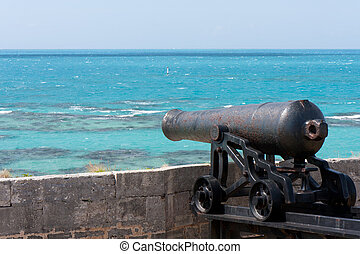 Canon at The Commissioner's House in Bermuda