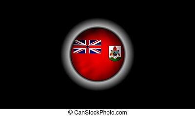 Bermuda flag on button 1080p