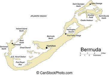 Bermuda, Island Major Cities and Capital - Bermuda Islands,...
