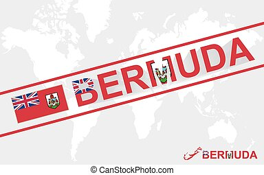Bermuda map flag and text illustration