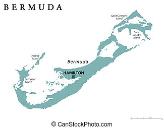 Bermuda political map
