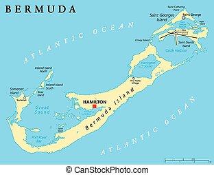 Bermuda Political Map