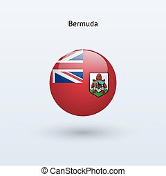 Bermuda round flag. Vector illustration.
