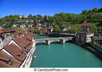bern, e, aare, fiume, svizzera